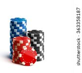 casino chips isolated on white... | Shutterstock .eps vector #363358187