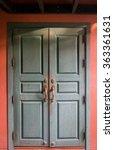 antique wooden doors | Shutterstock . vector #363361631