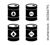 oil barrel icons. isolated on... | Shutterstock .eps vector #363366791
