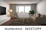 interior with sofa. 3d... | Shutterstock . vector #363371099