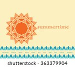 summer background with ... | Shutterstock .eps vector #363379904