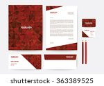 corporate identity template | Shutterstock .eps vector #363389525
