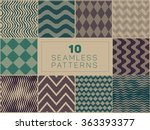 set of ten vector seamless hand ... | Shutterstock .eps vector #363393377