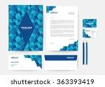 corporate identity template | Shutterstock .eps vector #363393419