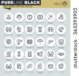 thin line icons set of legal ... | Shutterstock .eps vector #363393905