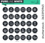 set of thin line icons for... | Shutterstock .eps vector #363393965