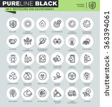 thin line icons set of... | Shutterstock .eps vector #363394061
