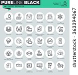 thin line icons set of hotel...   Shutterstock .eps vector #363394067