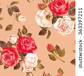 seamless pattern with red and... | Shutterstock .eps vector #363397211