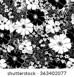 seamless  black and white... | Shutterstock .eps vector #363402077