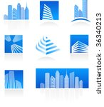 set of real estate icons | Shutterstock .eps vector #36340213