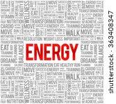 energy word cloud background ... | Shutterstock .eps vector #363408347