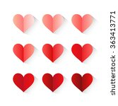 bright vector set with hearts. | Shutterstock .eps vector #363413771