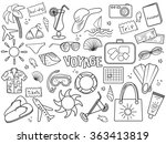 voyage design colorless set... | Shutterstock .eps vector #363413819
