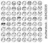 Big Set Of 64 Smiles. Black...