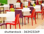 colorful plastic chairs and...   Shutterstock . vector #363423269