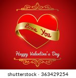 valentine's card  red heart... | Shutterstock .eps vector #363429254