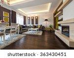 interior of a bright living room | Shutterstock . vector #363430451