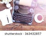 Vintage Black Typewriter On...