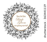 vintage delicate invitation... | Shutterstock .eps vector #363441119