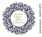 vintage delicate invitation... | Shutterstock .eps vector #363441395