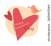 valentine's day card. vector... | Shutterstock .eps vector #363442064