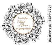 romantic invitation. wedding ... | Shutterstock .eps vector #363443129
