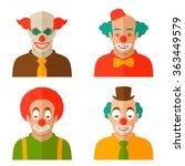 funny clown cartoon face ... | Shutterstock .eps vector #363449579