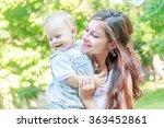 outdoor portrait of young happy ...   Shutterstock . vector #363452861