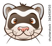face of cartoon ferret on the... | Shutterstock .eps vector #363453935