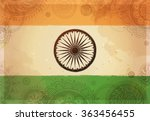 indian republic day concept... | Shutterstock .eps vector #363456455