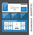 website design template for... | Shutterstock .eps vector #363459731
