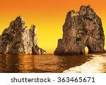amazing landscape at capri... | Shutterstock . vector #363465671