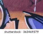 Detail Of A Graffiti Art On A...