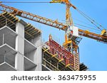 crane and building construction ... | Shutterstock . vector #363475955