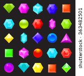 set of colorful icons of... | Shutterstock .eps vector #363482501