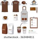 vector restaurant cafe set... | Shutterstock .eps vector #363484811
