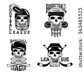 vintage sport vector labels set ... | Shutterstock .eps vector #363485525