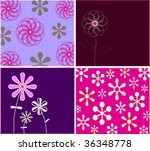collection funny floral cards | Shutterstock .eps vector #36348778