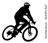 Silhouette Of A Cyclist Male. ...