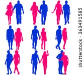 couples man and woman... | Shutterstock .eps vector #363491585