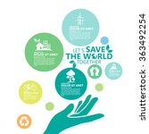 environment. let's save the... | Shutterstock .eps vector #363492254