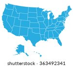 united states of america map ... | Shutterstock .eps vector #363492341