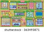 platform game user interface...   Shutterstock .eps vector #363493871