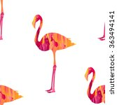 seamless flamingo bird pattern  ... | Shutterstock .eps vector #363494141