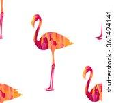 seamless flamingo bird pattern  ... | Shutterstock .eps vector #363494141