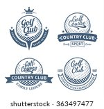 set of vector golf country club ... | Shutterstock .eps vector #363497477