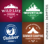 set of camping and outdoor... | Shutterstock .eps vector #363497531