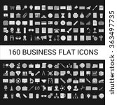 160 business flat icons... | Shutterstock .eps vector #363497735