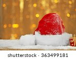 santa claus red hat with... | Shutterstock . vector #363499181